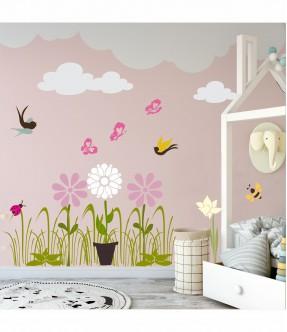 Set sabloane fluturasi si floricele