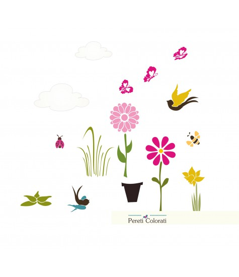 Set Vopsea fluturasi si floricele
