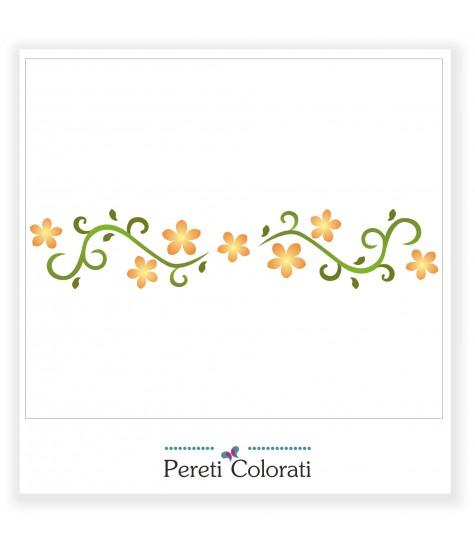 Sablon bordura floricele